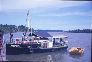 Boat belonging to Diana's uncle, Kikori River, Papua New Guinea
