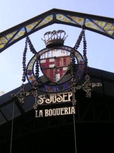 La Boqueria Market entrance, Barcelona