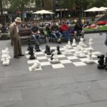 Chess outdoors, State Library Victoria