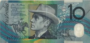 Paterson and brumbies on $10 note