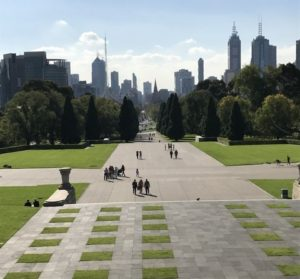 Shrine of Remembrance, Melbourne - view from