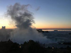 Niagara Falls at daybreak